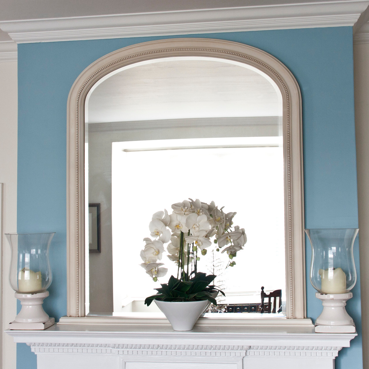 Image of Diana Ivory Overmantle Mirror