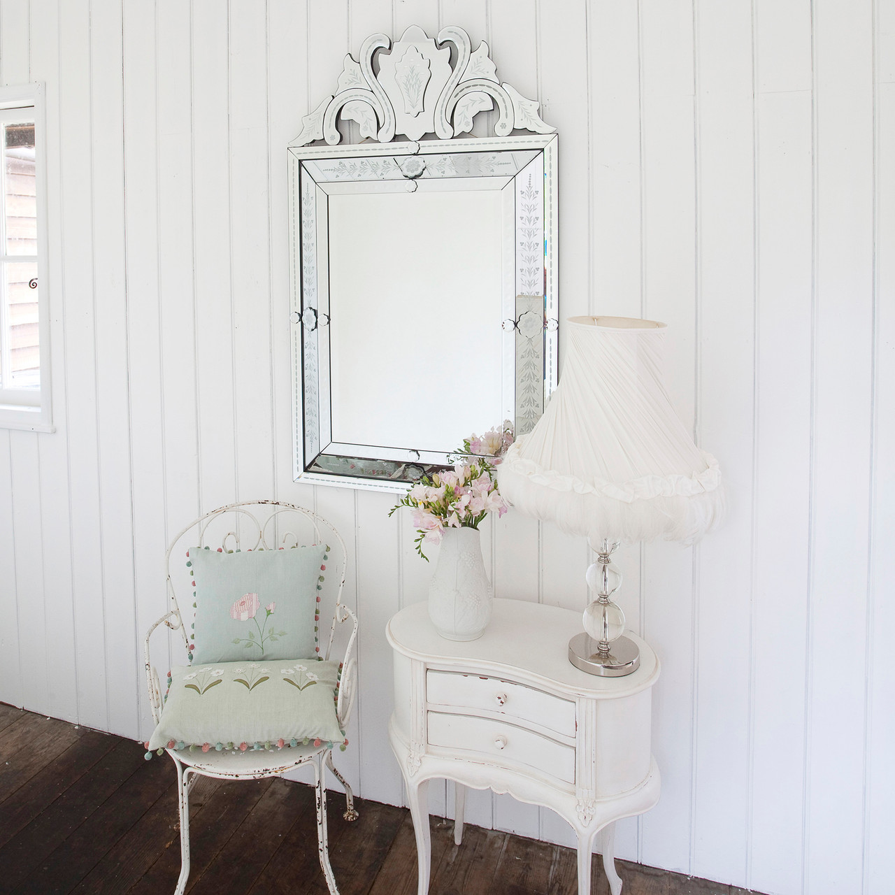 Image of Embellished Venetian Style Mirror