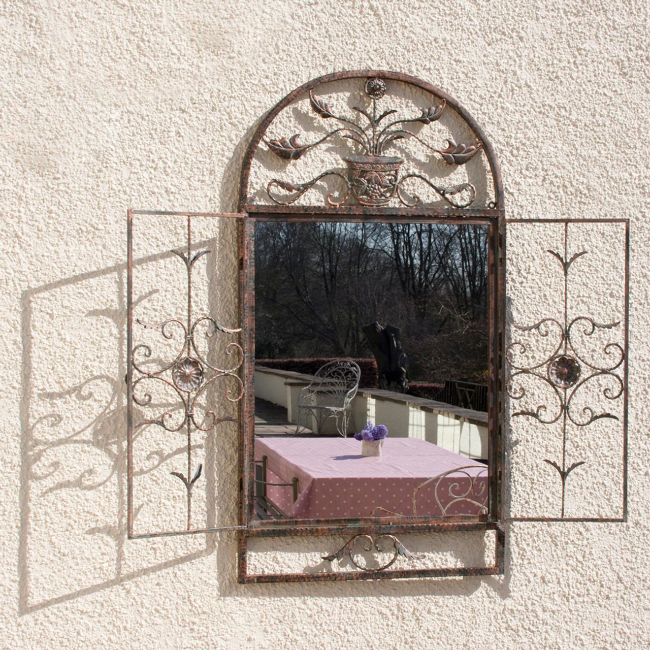 Image of Floral Garden Window Mirror
