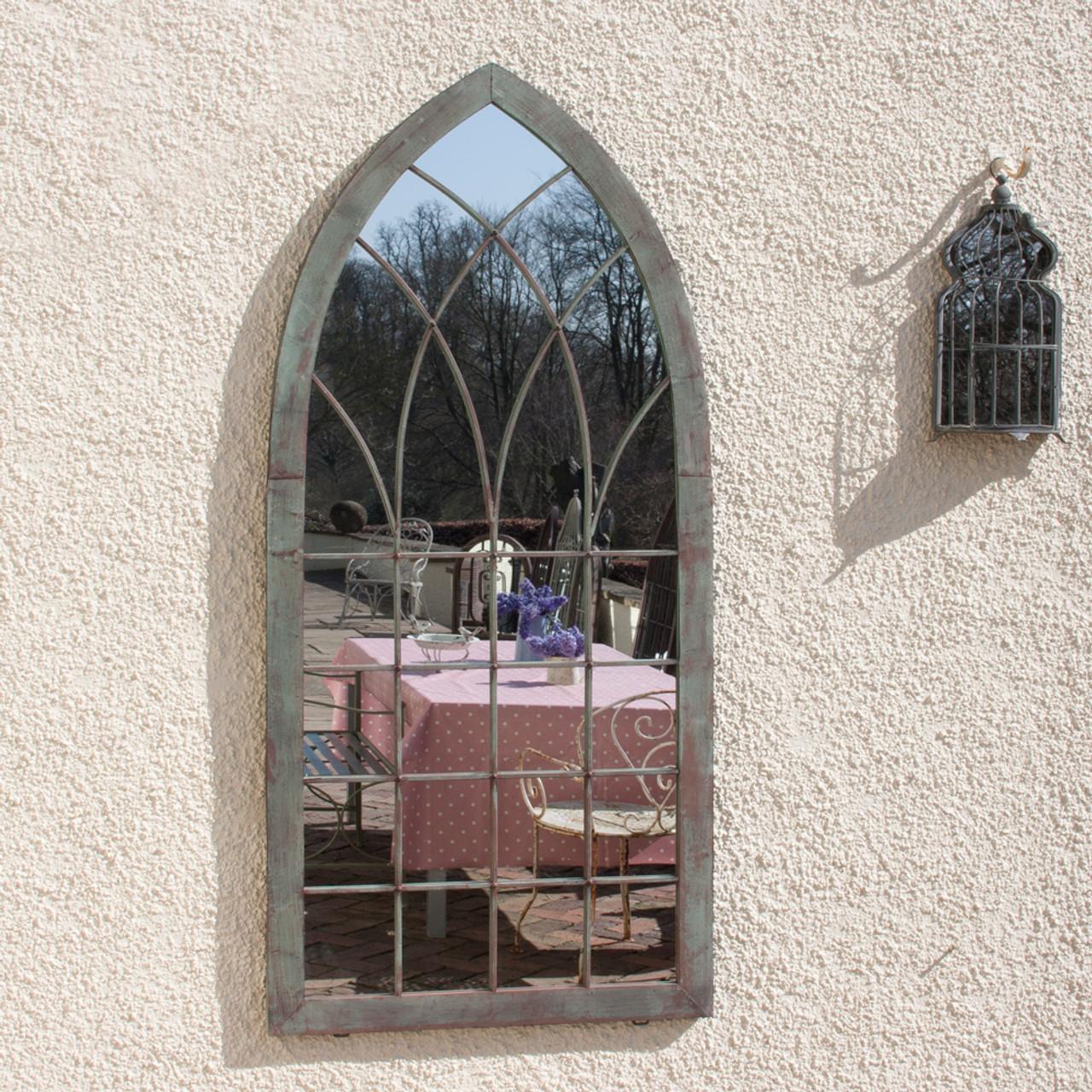 Gothic Verdegris Garden Mirror