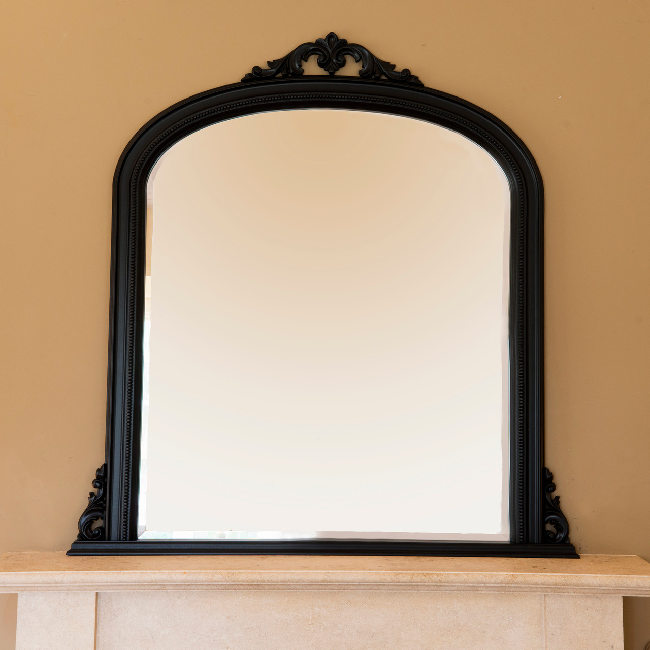Isabella Black Overmantle Mirror