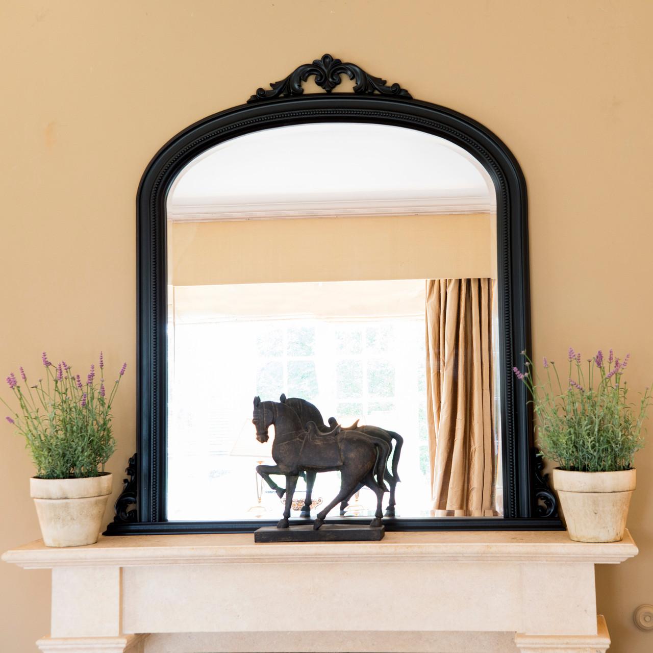 Image of Isabella Black Overmantle Mirror