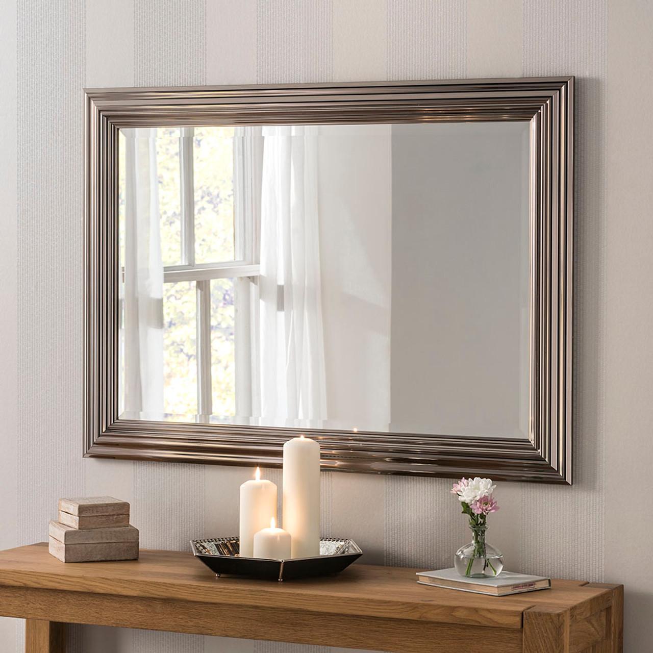 Image of Isla Chrome Rectangular Mirror