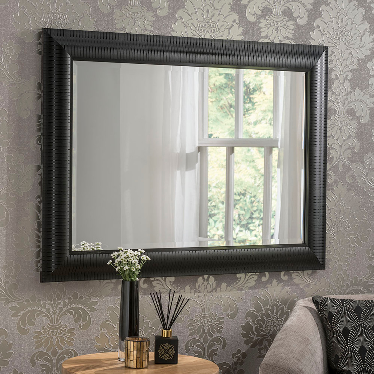 Image of Kenzie Black Rectangular Mirror