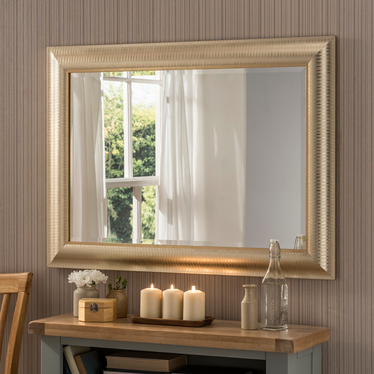 Image of Kenzie Champagne Gold Rectangular Mirror