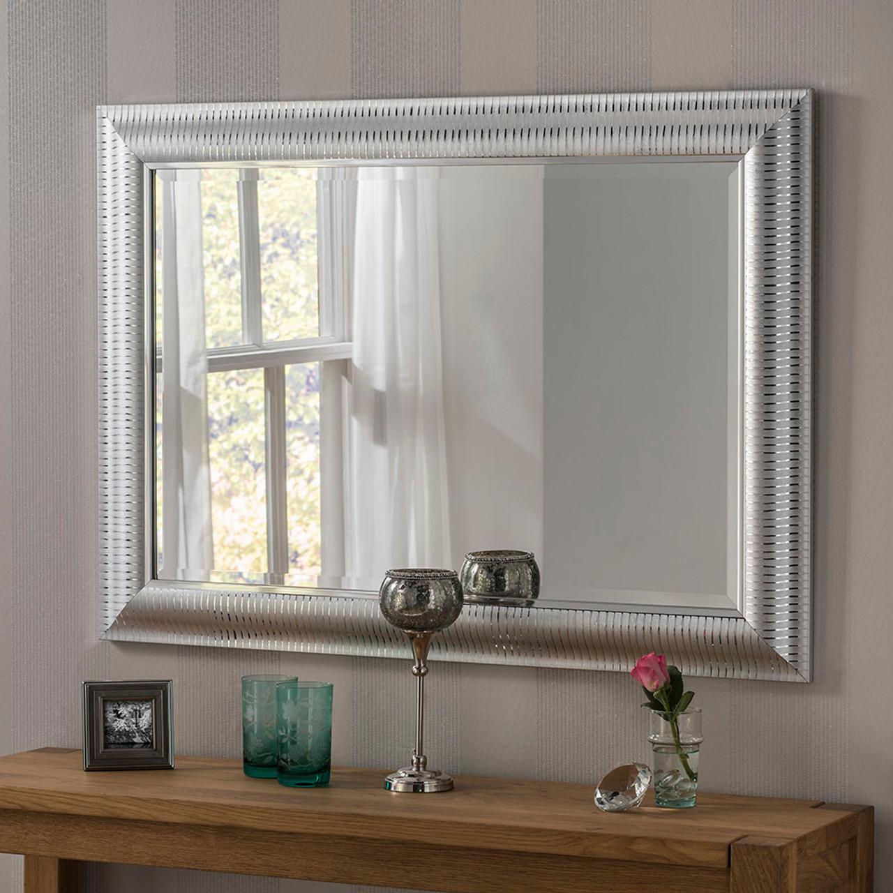 Image of Kenzie Silver Rectangular Mirror