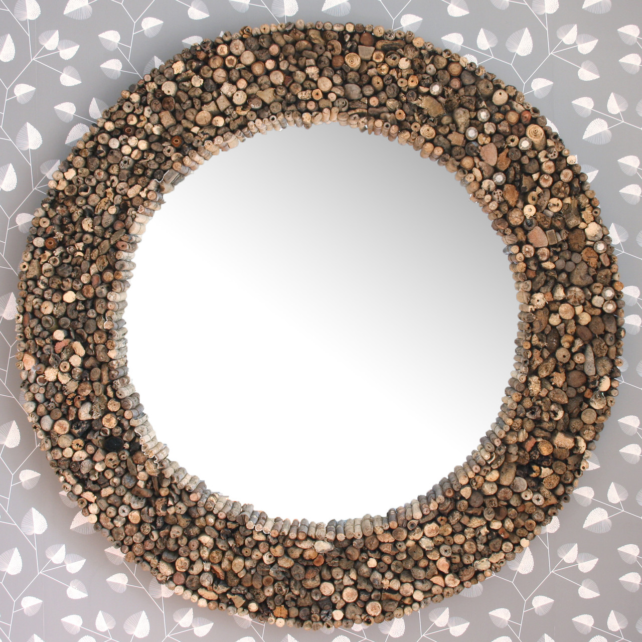 Image of Large Round Driftwood Mirror