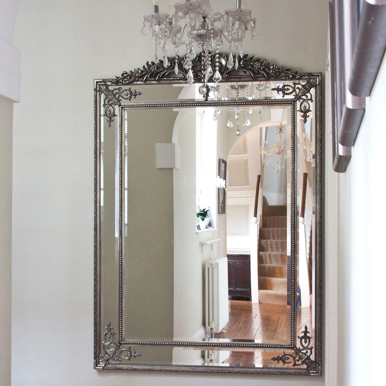 Image of Large Silver French Style Mirror