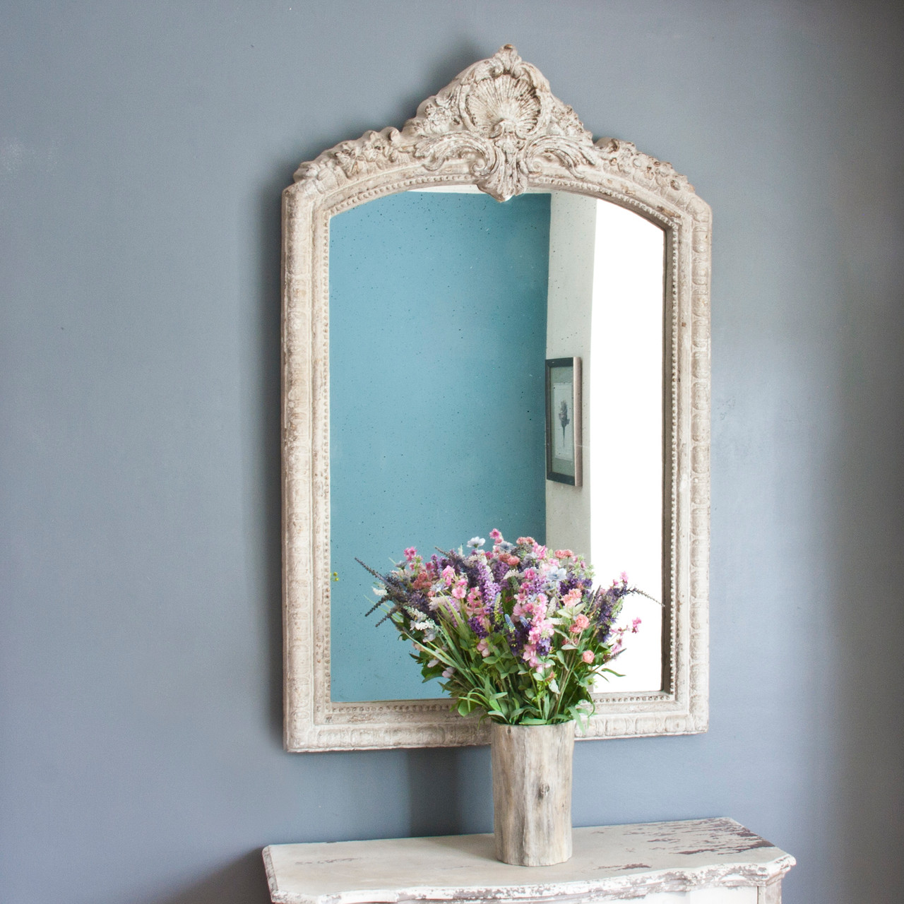 Image of Lily Arch Topped Mirror