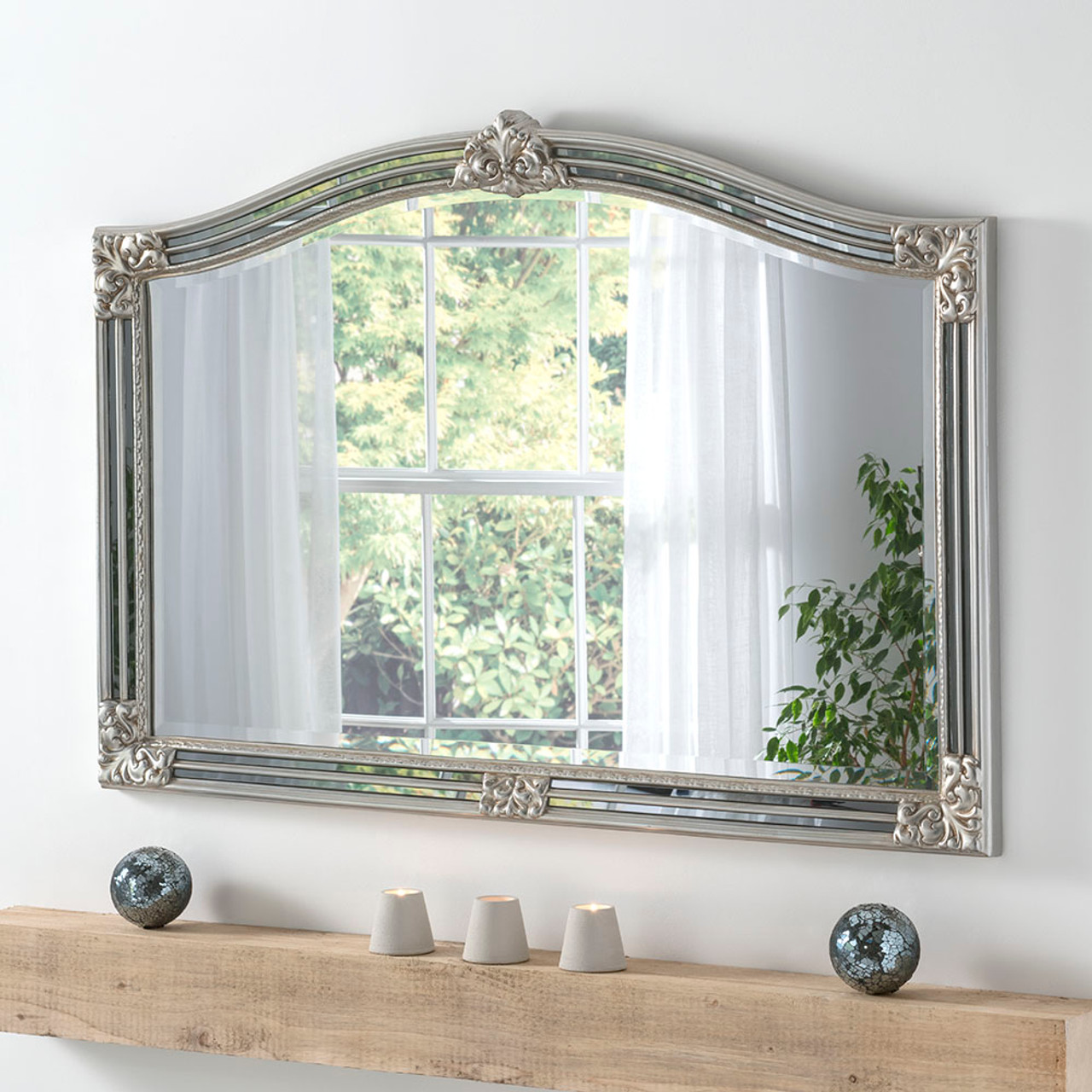 Champagne Overmantle Mirror Free Delivery Decorative Mirrors Online