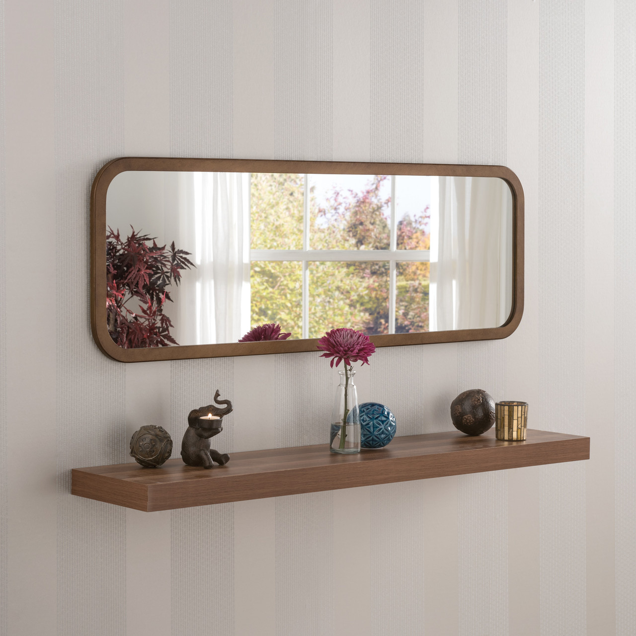 Image of Modern Bronze Oblong Mirror