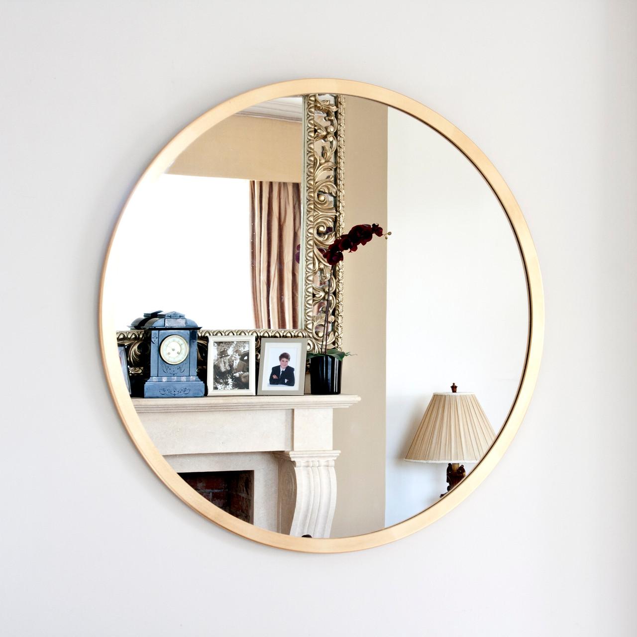 Image of Modern Gold Round Mirror