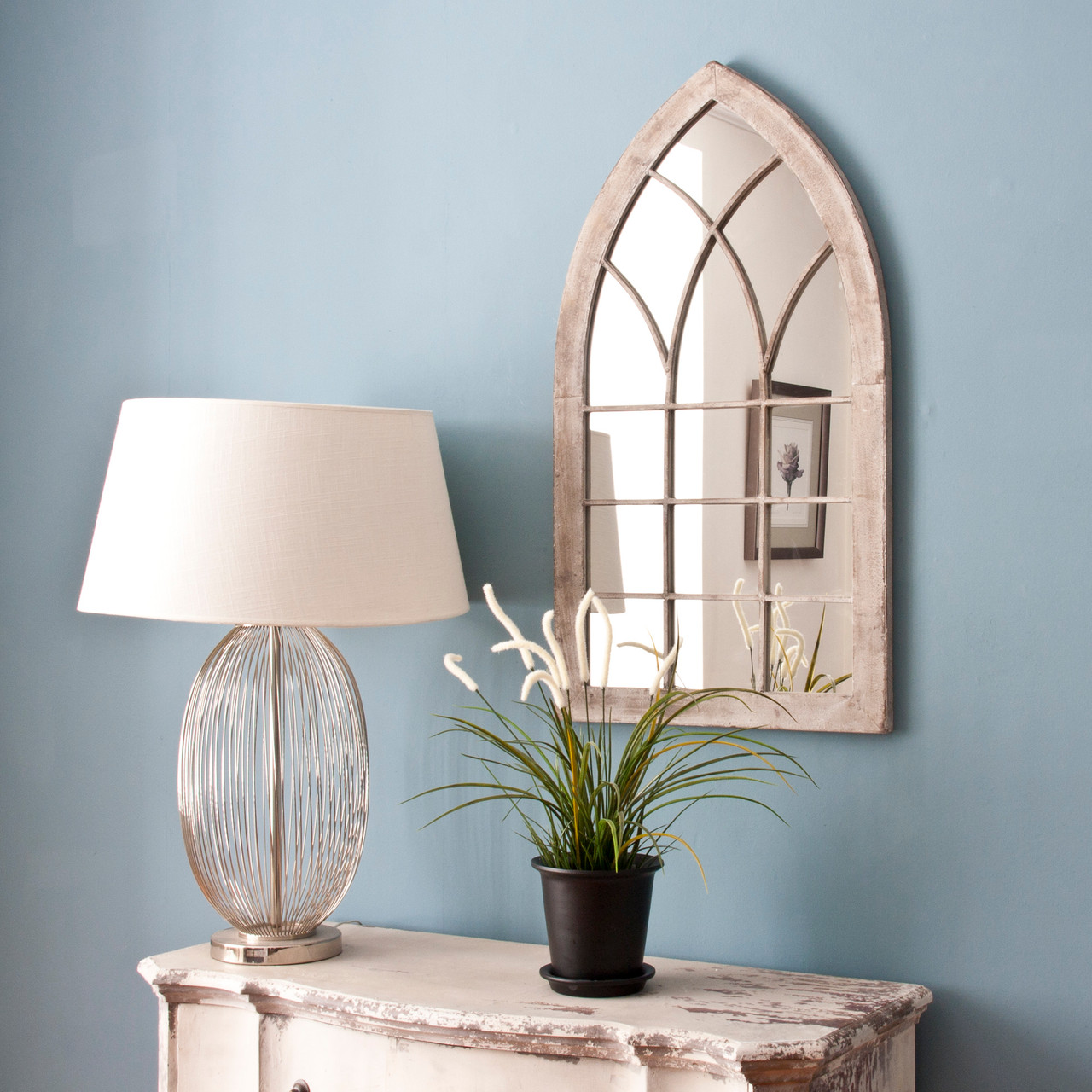 Image of Small Gothic Garden Mirror