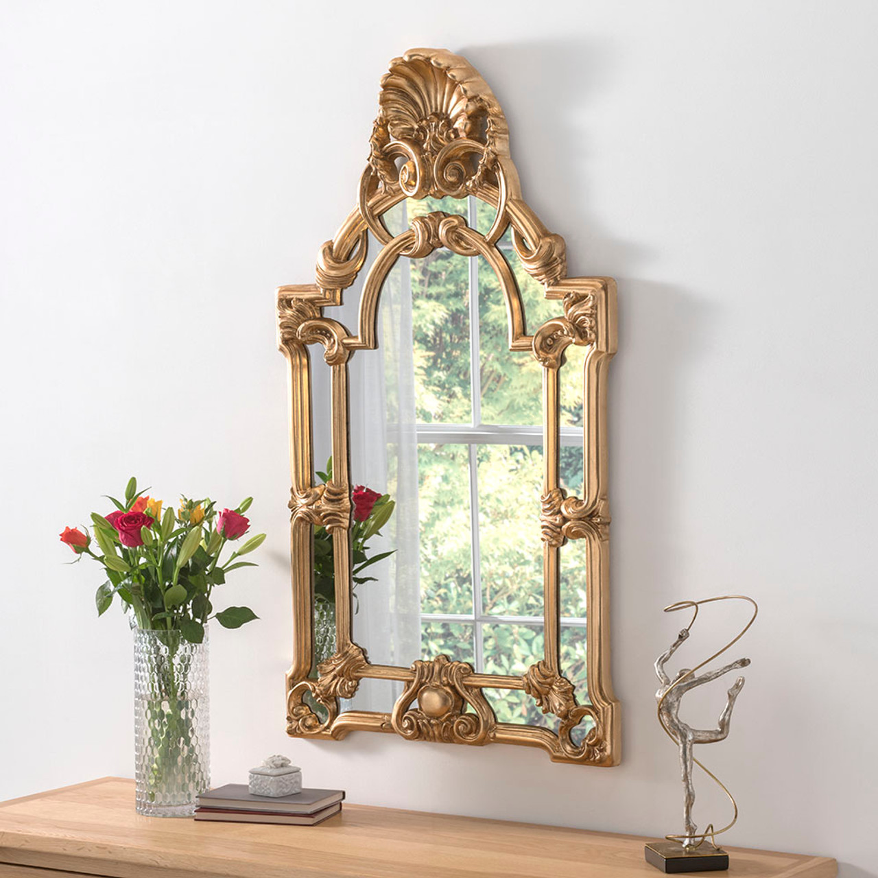 Large Gold Ornate Mirror Decorative Mirrors Online Free Uk Delivery