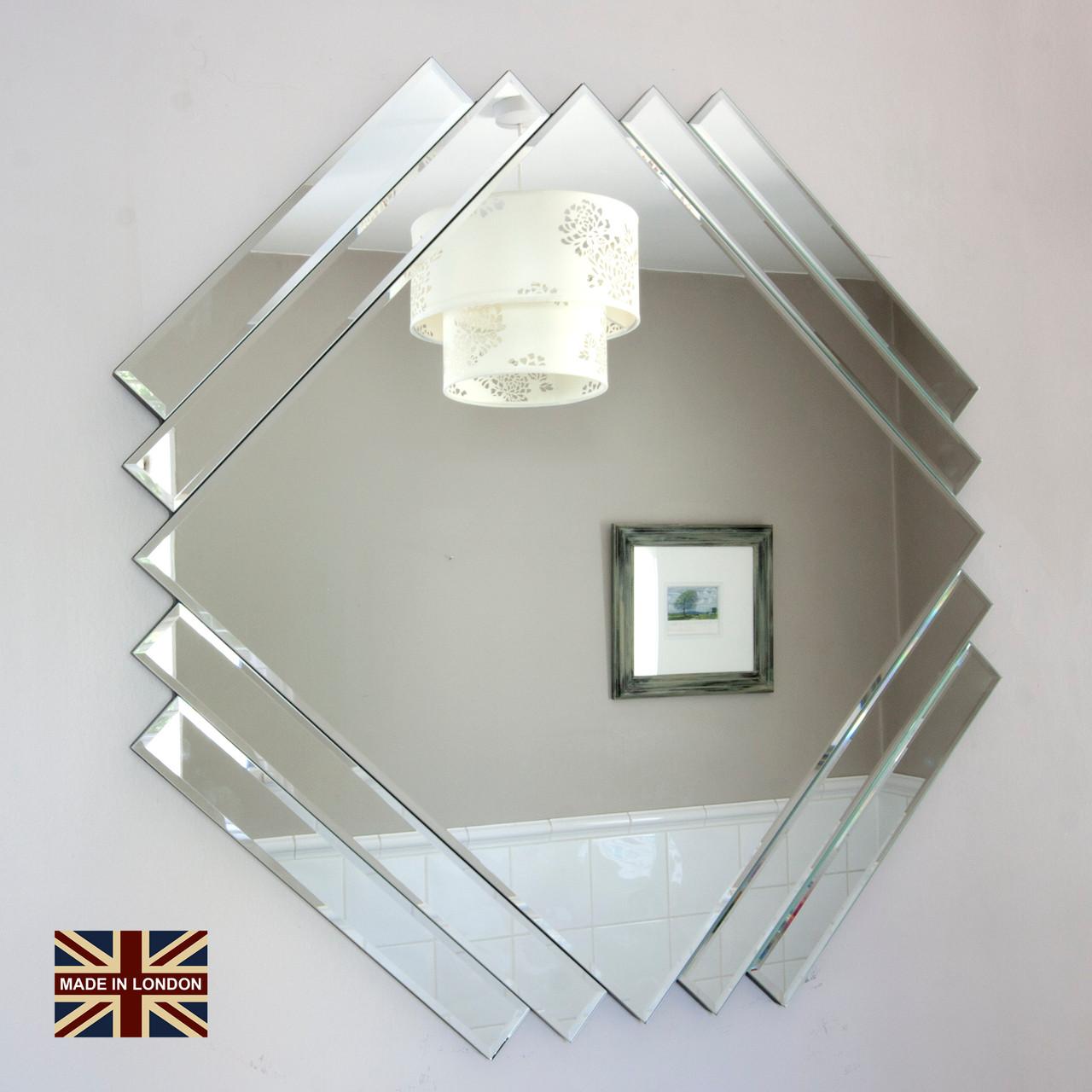Art Deco Style All Glass Mirror Decorative Mirrors Online Ltd