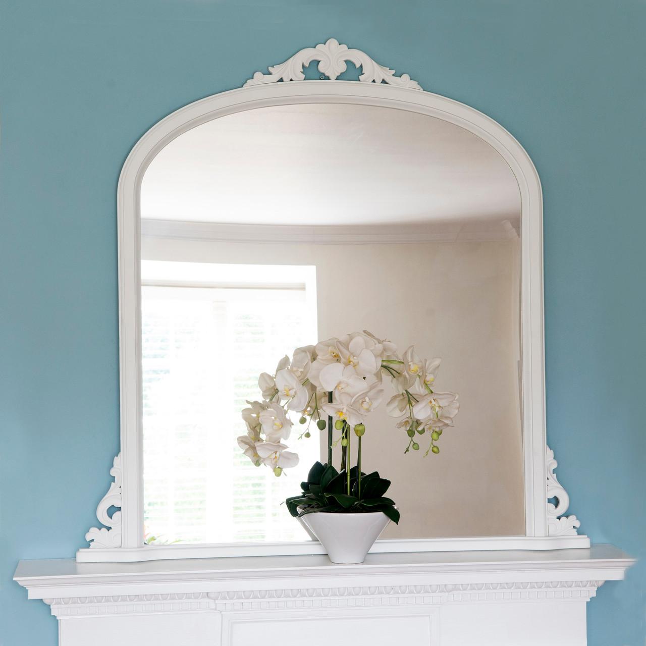 Image of Victoria White Overmantle Mirror