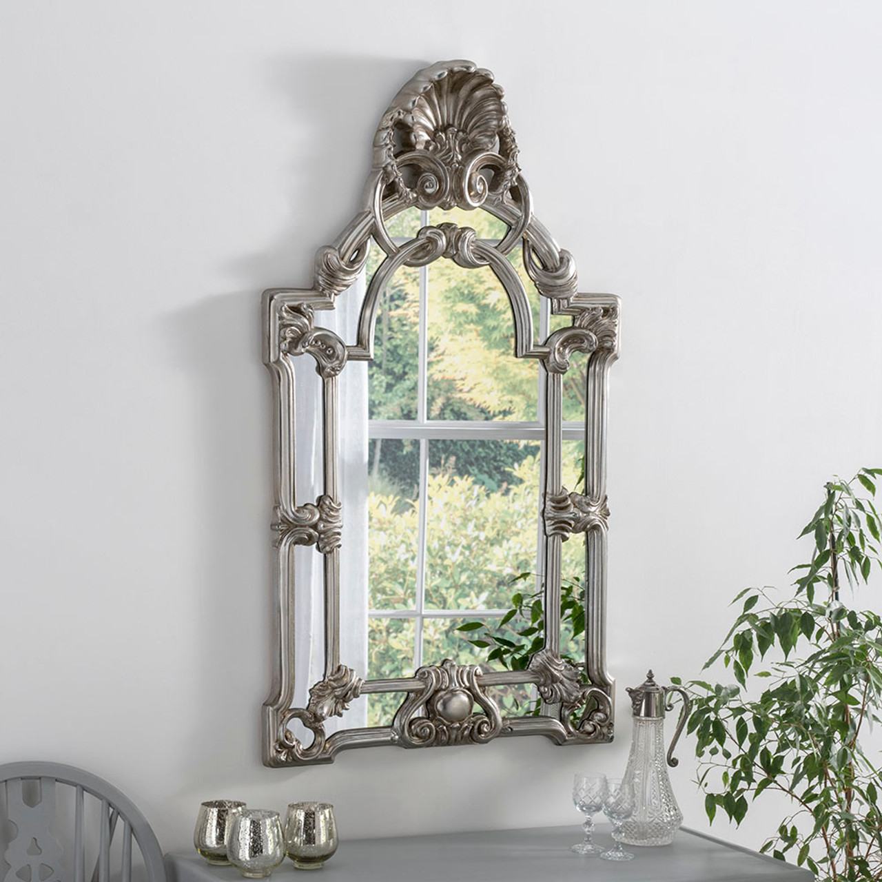 Silver Gold Ornate Mirror Decorative Mirrors Online Free Uk Delivery