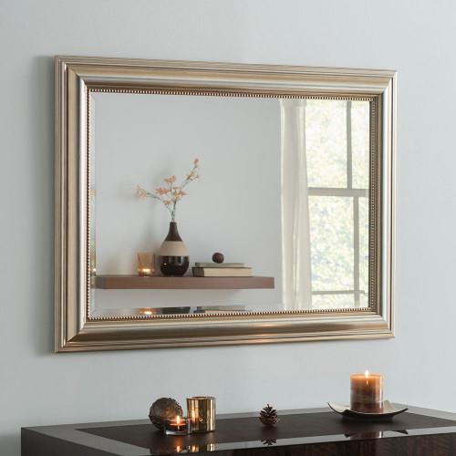Image of Franz Champagne Silver Rectangular Mirror