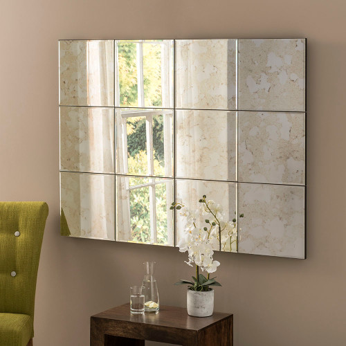 Image of Antique panel mirror