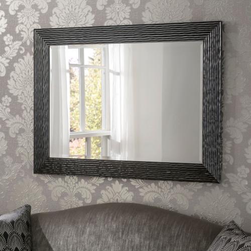 Image of Arden Black Rectangular Mirror