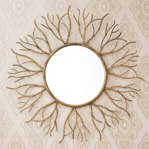 Image of Bronze Gold Twigs Mirror