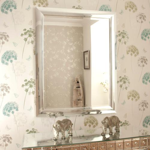 Image of Contemporary Chrome Mirror