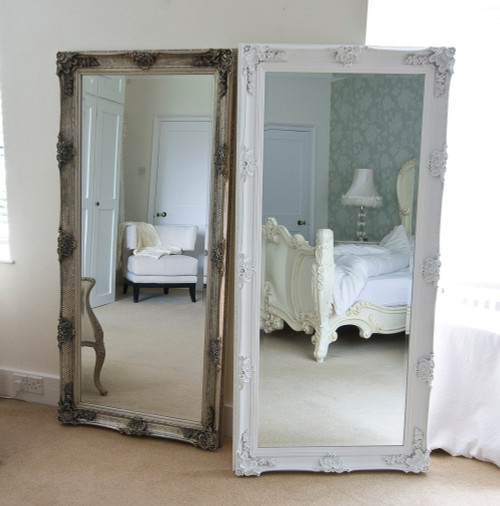 Image of Cream Decorative Full Length Dressing Mirror
