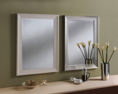 Image of Dash White Rectangular Mirror