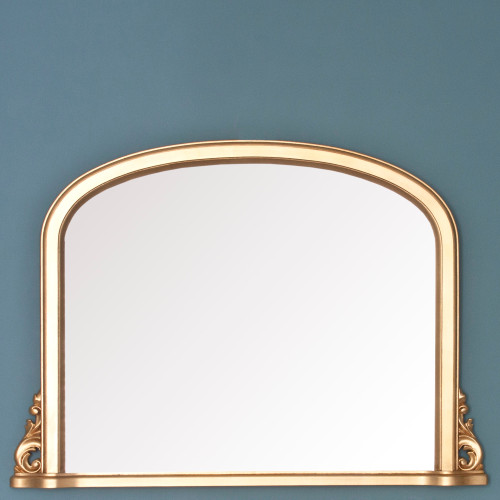 Image of Delphine Gold Overmantle Mirror