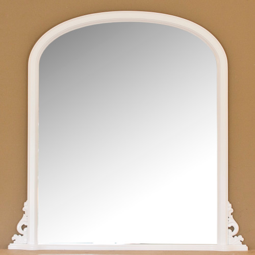 Image of Delphine White Overmantle Mirror