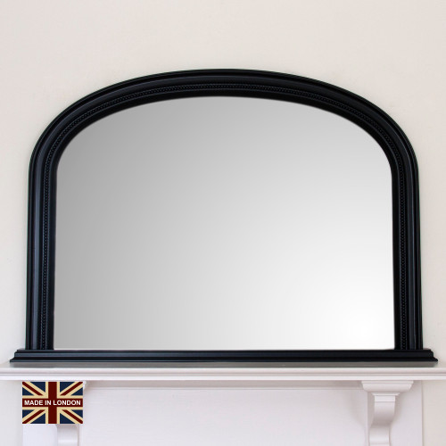 Image of Diana Black Overmantle Mirror