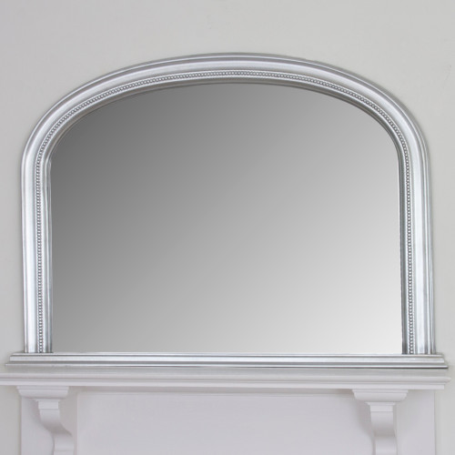 Image of Diana Silver Overmantle Mirror