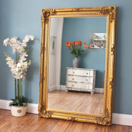 Image of Embellished Gold Design Mirror