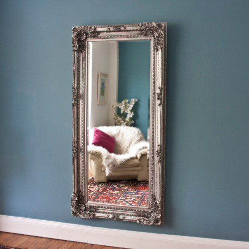 Image of Embellished Silver Design Mirror