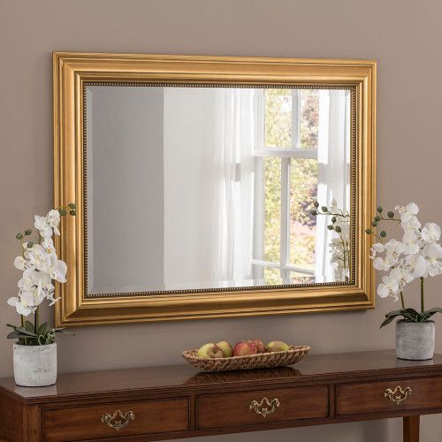 Image of Franz Gold Rectangular Mirror