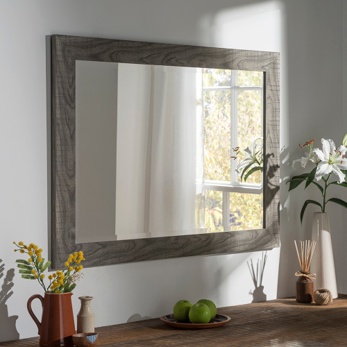 Image of Freya Grey Rectangular Mirror
