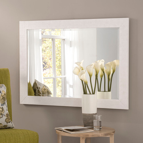 Image of Freya White Rectangular Mirror