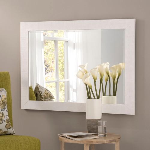 Image of Freya White Rectangular Mirror