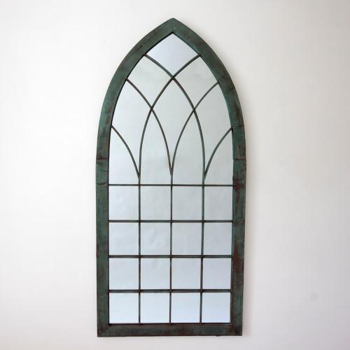 Image of Gothic Verdegris Garden Mirror