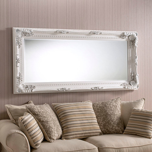 Grand White Full Length Mirror