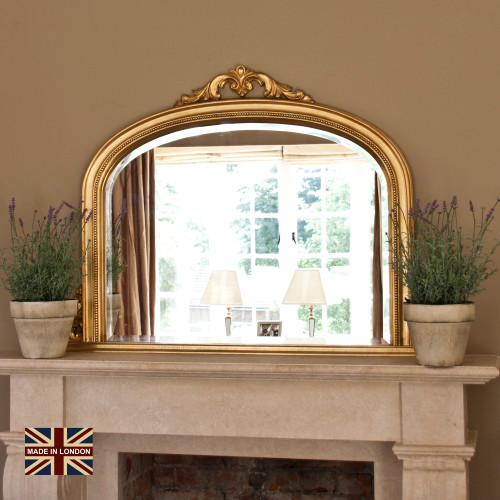 Image of Isabella Antiqued Gold Overmantle