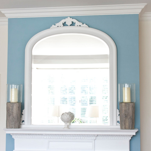 Image of Isabella White Overmantle Mirror