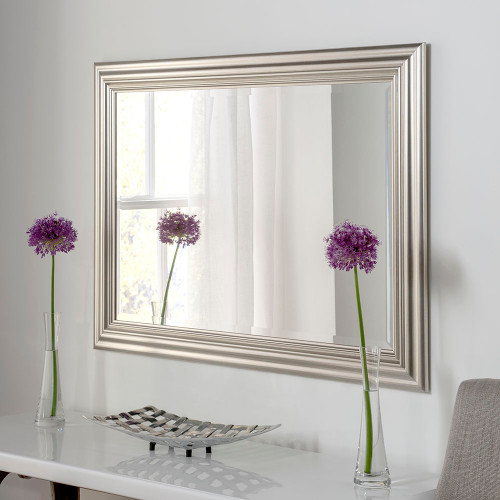 Image of Isla Champagne Silver Rectangular Mirror