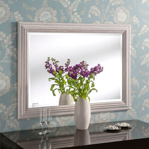Image of Isla White Rectangular Mirror