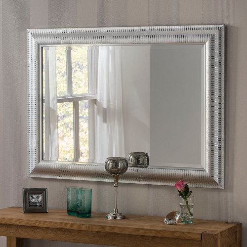 Image of Kenzie Silver Rectangular Mirror