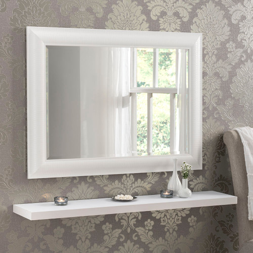 Image of Kenzie White Rectangular Mirror