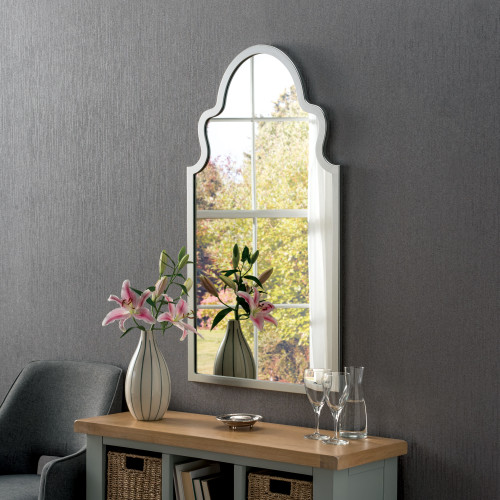 Image of Marrakesh Silver Arched Mirror