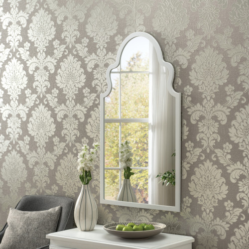 Image of Marrakesh White Arched Mirror