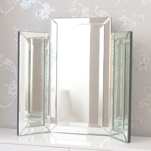 Image of Medium Bevelled Dressing Table Triple Mirror