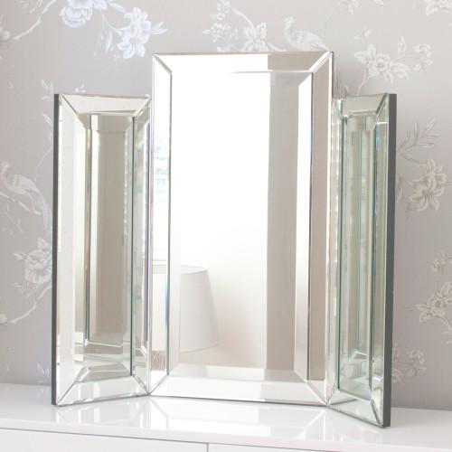 Image of Medium Bevelled Dressing Table Triple Mirror